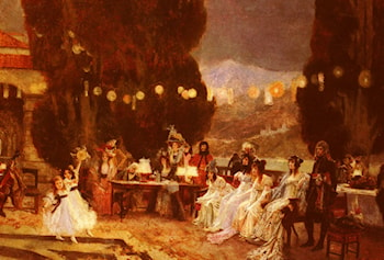 An Evening's Entertainment For Josephine by Francois Flameng