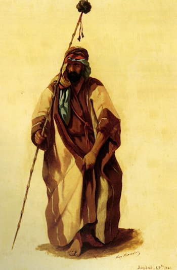 A Man From Bagdad by Eugene Napoleon Flandin