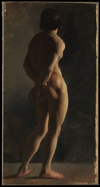 Male Nude, Seen from Behind by Jean Hippolyte Flandrin
