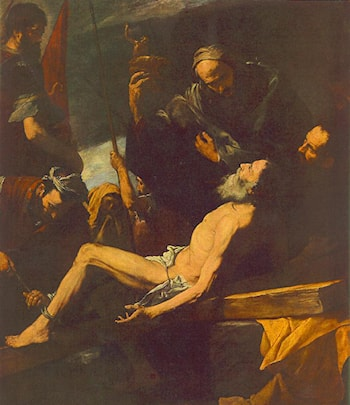 The Martyrdom of St Andrew by Jusepe de Ribera