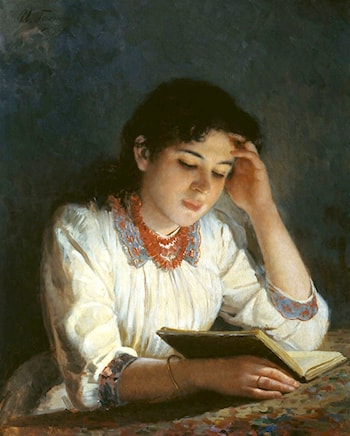 Reading Girl by Tony Robert-Fleury