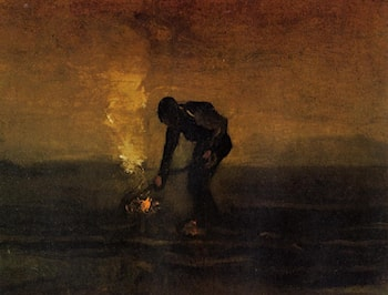 Peasant Burning Weeds by Vincent van Gogh