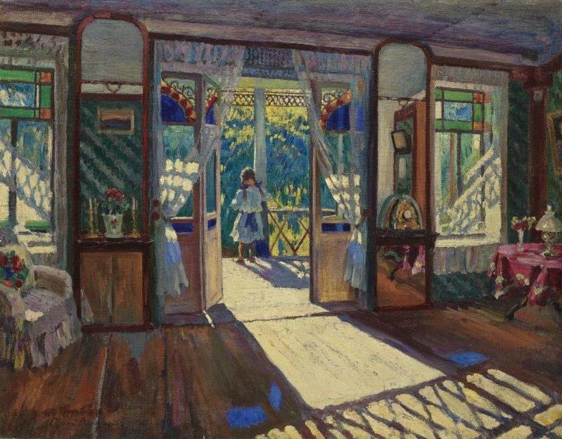 In a House by Sergei Arsenievich Vinogradov - Art Renewal Center
