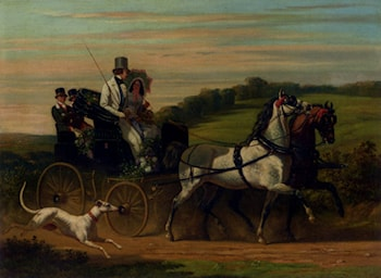 The Carriage Ride by Henri D'Annecy (Comte De) Montpezat