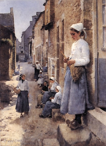 A Street in Brittany by Stanhope Alexander Forbes