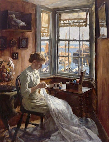The Harbour Window by Stanhope Alexander Forbes