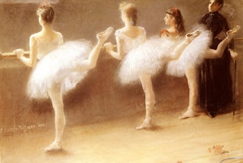 At The Barre by Pierre Carrier-Belleuse