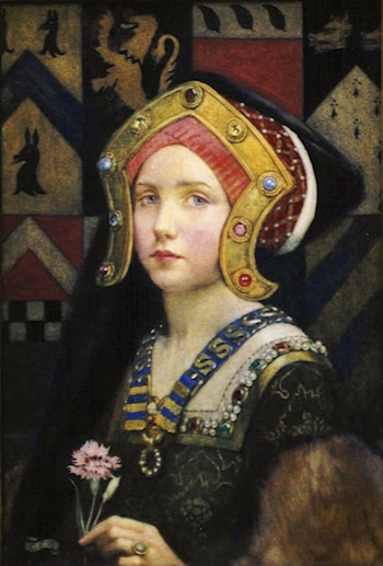 Head of a Tudor Girl by Eleanor Fortescue-Brickdale