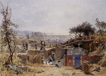 The Excavations at Pompeii by Louis Francais