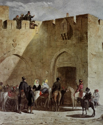Illustrations from the artists travels through Jerusalem by Jean Nicolas Henri De Chacaton
