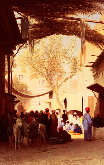 A Market Place, Cairo by Charles Theodore Frere