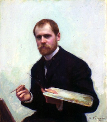 Self­Portrait by Emile Friant