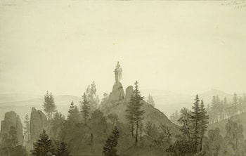 Statue of the Madonna in the Mountains by Caspar David Friedrich