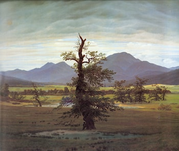 Landscape with Solitary Tree by Caspar David Friedrich