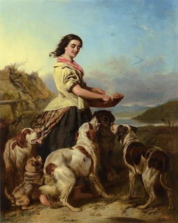 The Gamekeeper's Daughter by William Powell Frith