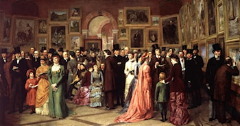 A Private View at the Royal Academy by William Powell Frith