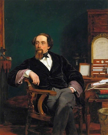 Charles Dickens in his Study by William Powell Frith