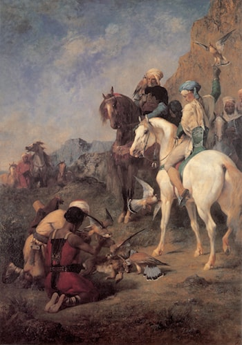 Falcon Hunting in Algeria by Eugene Fromentin