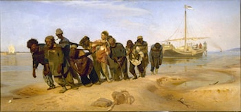 Barge Haulers on the Volga by Il'ya Repin