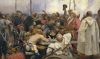 The Zaporozhye Cossacks Replying to the Sultan by Il'ya Repin