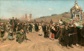 Easter Procession in the Region of Kursk by Il'ya Repin