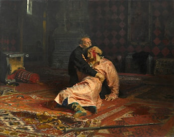Ivan the Terrible and His Son Ivan on November 16, 1581 by Il'ya Repin