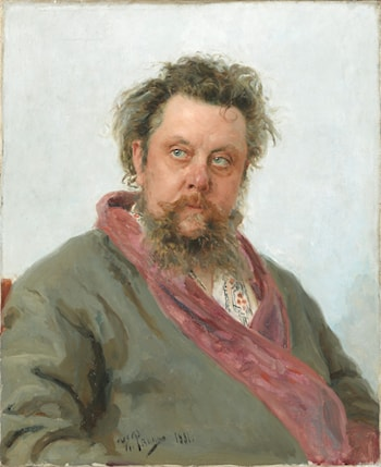 Portrait of the Composer Modest Musorgsky by Il'ya Repin