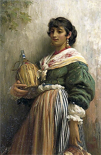 Venetian Girl with a Flask by Luke Fildes