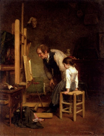 In The Studio by Paul Constant Soyer