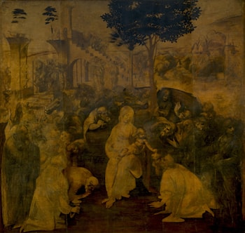 Adoration of the Magi by Leonardo da Vinci