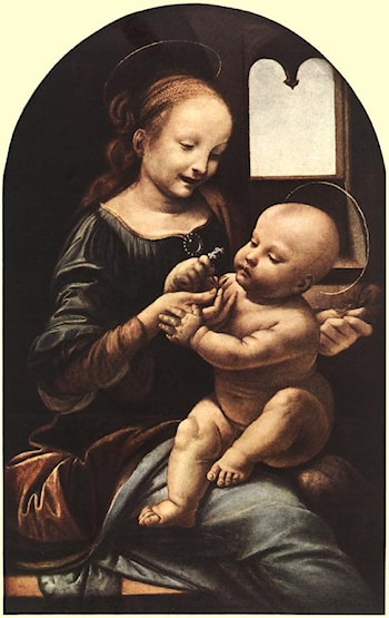 Madonna with Flower by Leonardo da Vinci