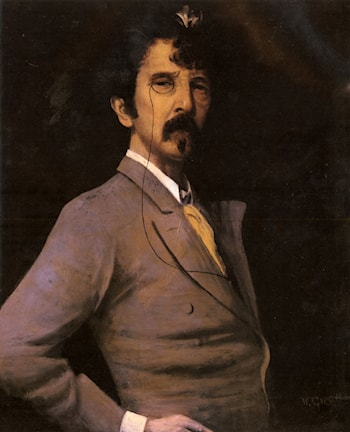 Portrait Of James Abbott McNeill Whistler by Walter Greaves
