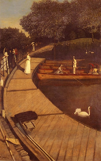 The Boating Pond, Battersea Park by Walter Greaves