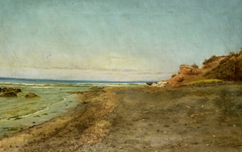The Shore of Maccarese Near Fregene Rome by Pietro Barucci