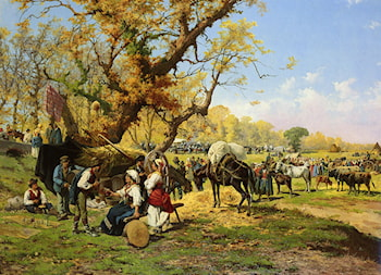 The Horse  Fair by Pietro Barucci
