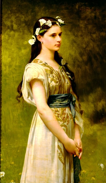 Portrait of Julia Foster Ward by Jules Joseph Lefebvre