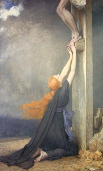 The Sorrows of Mary Magdalene by Jules Joseph Lefebvre
