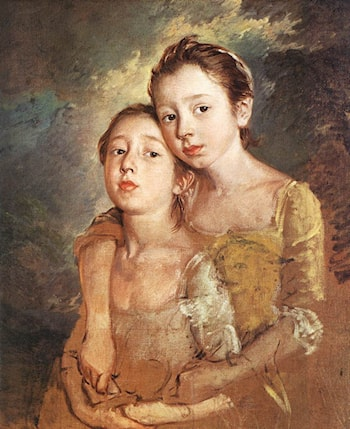 Artist's daughters with a cat by Thomas Gainsborough