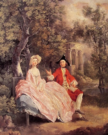 Conversation in a Park by Thomas Gainsborough