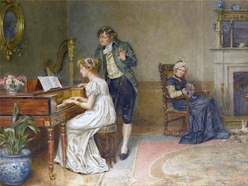 The Music Lesson by George Goodwin Kilburne