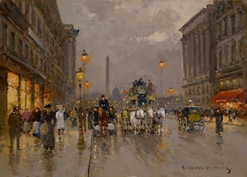 Rue Royale, Concorde by Edouard Leon Cortes