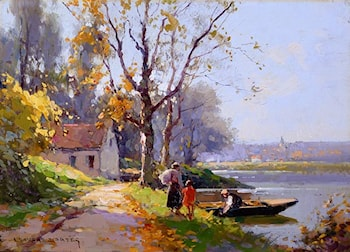 The Ferryman by Edouard Leon Cortes
