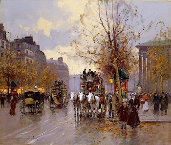 Omnibus on the Place de la Madeleine by Edouard Leon Cortes