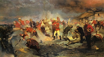 The Defense of Rorke's Drift, January 22,1879 by Elizabeth Thompson