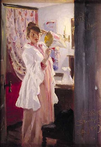 Marie in the mirror by Peder Severin Krøyer