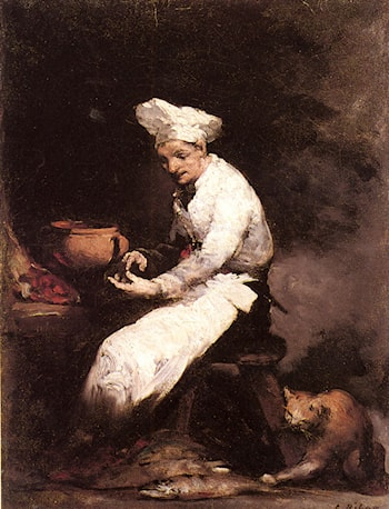 The Cook and the Cat by Theodule Augustine Ribot