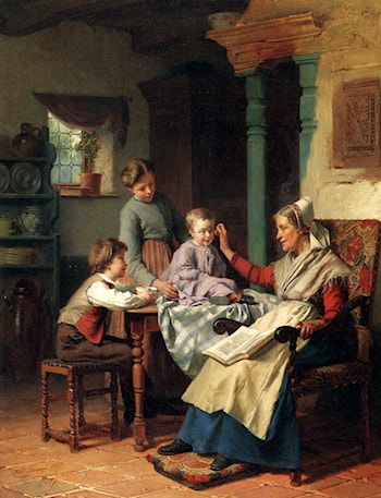 Trying On Grandmother's Spectacles by Theodore Gerard