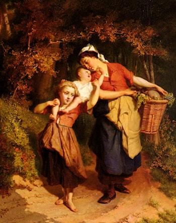 Returning From The Market by Theodore Gerard