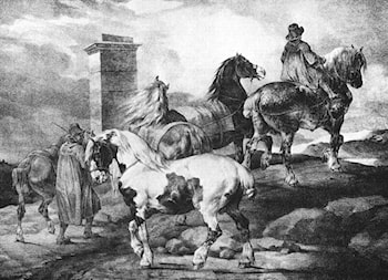 English Scenes ­ Horses by Theodore Gericault