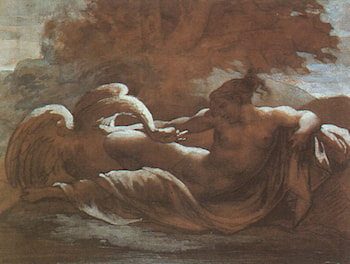 Leda and the Swan by Theodore Gericault